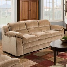 Simmons Maui Camel Sofa | Weekends Only Furniture And Mattress