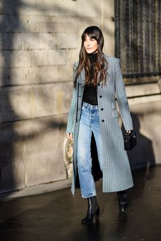 Long Coat Outfit, Winter Coat Outfits, Fall Outfits, Casual Outfits, Fashion Outfits, Style Désinvolte Chic, Style Casual, Casual Chic, Jeanne Damas