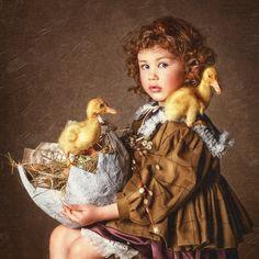 …… - девочка с утятами