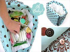 Beautiful Diaper Bag free tutorial!