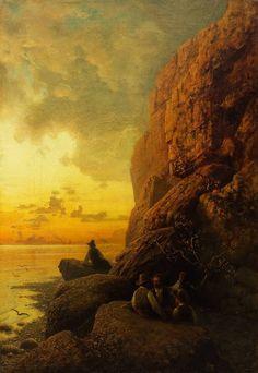 Landscape. Capri Petr Sukhodolsky (1892) A4 Poster, Poster Prints, Sea World, Vintage Artwork, Moonlight, Sunrise, Capri, Fine Art, Landscape
