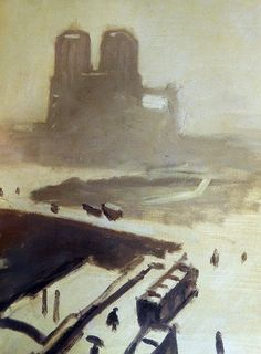 Notre Dame Cathedral in the Snow by Albert Marquet