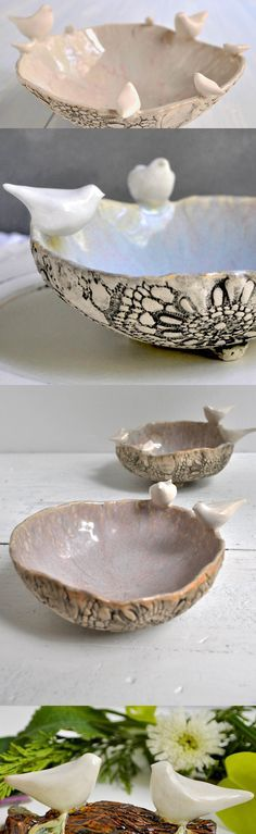 Family Bowl or LoveBirds Bowl- custom made for your family from Lee Wolfe Pottery