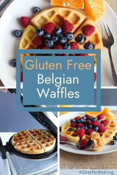 Crisp and golden brown Gluten Free Belgian Waffles… These lighter than air waffles are so good (no one has to know how easy the prep is!). These will be the breakfast waffles everyone will rave about. #glutenfreebread #glutenfreerecipes #glutenfreebreakfast Gf Pancake Recipe, Pancake Recipes, Waffle Recipes, Gluten Free Recipes For Lunch, Gluten Free Breakfasts, Gluten Free Baking, Gluten Free Waffles, Breakfast Waffles, Cooked Apples