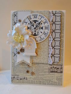 card MFT clock - Timeless stamp set MFT dienamics Time Pieces die set - Picturing the World:  #clock