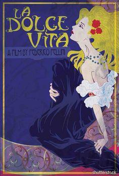 Reimagined Film Poster - La Dolce Vita - Dimitri Simakis