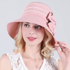 Spring bow wide brim sun hat womens bucket hat for sun protection UV ffed2075c8a5