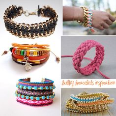 DIY pretty bracelet inspirations