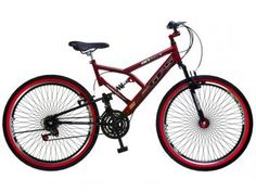Bicicleta Colli Bike Aro 26 21 Marchas - Dupla Suspensão e Freio V-break