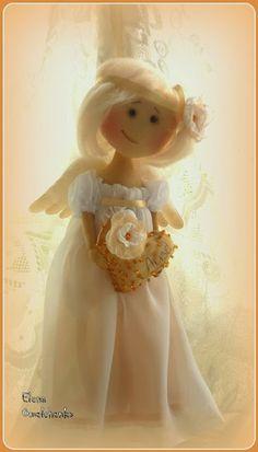 Куклёнки от Алёнки....(a very unique, very heavenly angel. so precious!)...