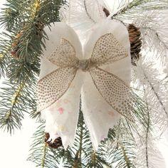 Bright, white angel wing ornament
