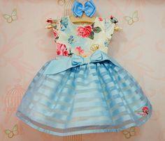 Vestido de Festa Infantil Marina Petit Cherie Modest Outfits, Boy Outfits, Little Girl Dresses, Girls Dresses, Girls Party Wear, Cute Baby Clothes, Baby Sewing, Pretty Dresses, Baby Dress