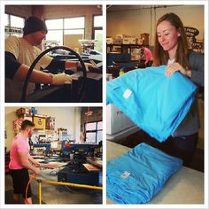 You gotta love the smell of fresh ink in the morning. The Shirt Kong crew is getting ready for the week to begin!