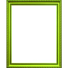 Neon green frame ❤ liked on Polyvore featuring frames, borders, backgrounds, green, frames & borders, picture frames and outline