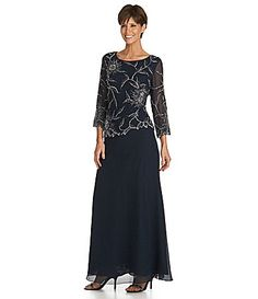 Jkara FloralBeaded Chiffon Gown #Dillards  Mother of the Bride