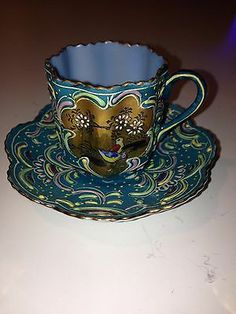Ardalt Japan Numbered Hand Painted Miniature Tea Cup And Saucer