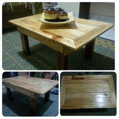 Mesa De Centro / Pallet Coffee Table #CoffeeTable, #RecycledPallet