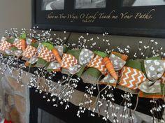 Spring Garland Easter Garland Mantle Garland Carrot by SwagsByKari Mantle Garland, Burlap Garland, Easter Garland, Easter Decor, Berry Garland, House Warming, Berries, Birthdays, Great Gifts