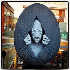 Nathan Sawaya LEGO egg from #thebigegghuntny. Amazing! [photo createdbylorraine]