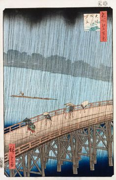 Hiroshige's Sudden Shower Over Shin-Ohashi Bridge and Atake, from One Hundred Famous Views of Edo, 1857. Photograph: Christie's Images/Corbis