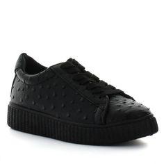 Seven7 C-Brown Women's Platform Sneakers, Size: 11, Black