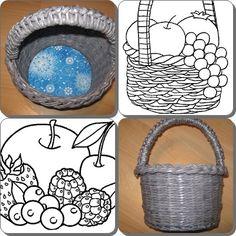 Papierový pletený košík na čokoľvek:)