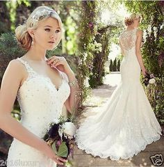 NEW Wedding Dress Mermaid Bridal Gown Free Shipping Size 6 8 10 12 14 16