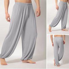 Men's Lightweight Loose Yoga Pants Morning Practice Cozy Sports Pants
