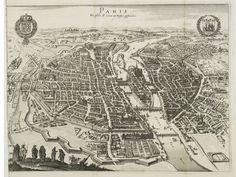 size: Giclee Print: Map of Paris, 1620 : Fine Art Michael Jennings, Plan Paris, Paris Map, Paris France, Merian, Rare Birds, Vintage Paris, Antique Maps, Birds Eye View