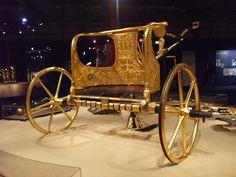 Golden chariot found in the tomb of Tutankhamun.