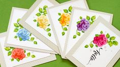 Mass Producing Stamped Cards - MISTI Stamp Tool.  I love all of Jennifer's videos and the Altenew layered stamps, too!