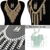 Chain Fringe Fashion Necklace Set