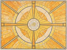Glass skylight design by Peter Behrens, produced in 1930.