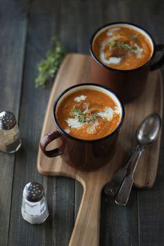 Vegan Spicy Butternut Squash Soup Recipe by Sowmya Dinavahi Vegetarian Thanksgiving, Vegetarian Soup, Vegan Soups, Thanksgiving Feast, Spicy Recipes, Soup Recipes, Vegan Recipes, Cooking Recipes, Free Recipes