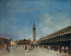Francesco Guardi - The Piazza San Marco [probably 1750s]