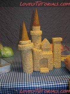 rice crispy castle tutorial