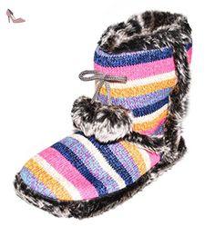 BTS , Chaussons pour femme - multicolore - Pink/ Blau, 39/40 EU - Chaussures bts (*Partner-Link)