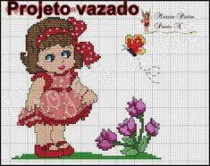 Cross Stitch For Kids, Cross Stitch Baby, Cross Stitch Flowers, Cross Stitch Charts, Cross Stitch Designs, Cross Stitch Patterns, Cross Stitching, Cross Stitch Embroidery, Stitch Doll