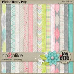 No2Alike The Basics - Papers By Fayette Designs