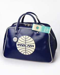 Pan Am Original Explorer Flight Attendant Bag Handbag Purse Blue