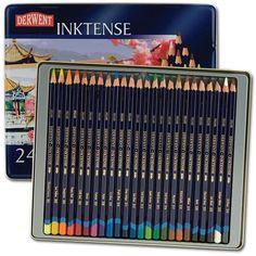 "Derwent Inktense - not your standard ""watercolor"" pencil."