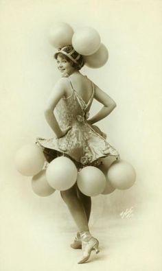 A balloon costume from the Midnight Follies