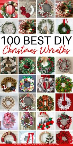 get your front door ready for the holidays with this ultimate collection of best cheap DIY Christmas Wreaths. With over 100 BEST holiday wreaths to choose from you're guaranteed to have the most festive door on the block. Diy Christmas Gifts For Family, Dollar Store Christmas, Burlap Christmas, Christmas Crafts, Christmas Decorations, Christmas Ornaments, Christmas Christmas, Elegant Christmas, Natural Christmas