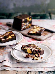 Vegan chocolate, cherry & honeycomb parfait
