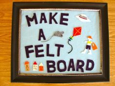 Make a felt board and use it for stop motion animation videos by cutting shapes out of felt and moving them across the board. Felt Diy, Felt Crafts, Toddler Preschool, Toddler Activities, Diy For Kids, Crafts For Kids, Easy Crafts, For Elise, Waldorf Crafts