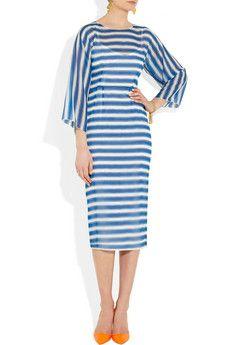sheer blue/white stripes - Apostolic Clothing Pentecostal
