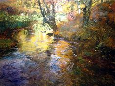 Frits Thaulow (Norwegian 1847–1906) [Impressionism] At Quimperle, 1901. Great water!