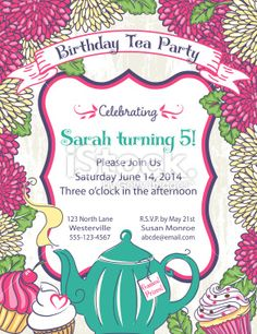Botanical Roses Tea Party Bridal Shower Template RoyaltyFree