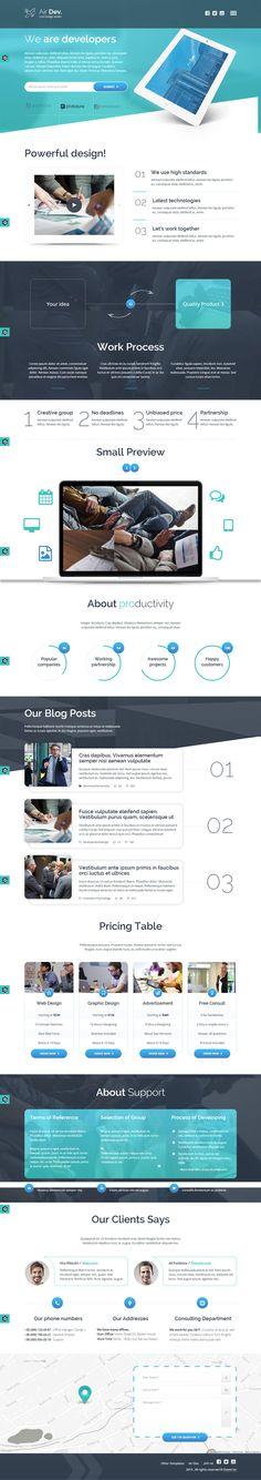 Blue, web design, concept, layout in Web Design