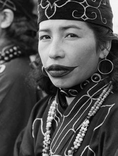 Read about the Ainu tradition of tattooing women's lips...